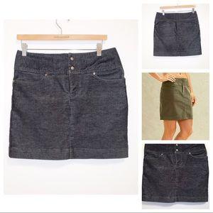 Athleta Corduroy Vintage Ridge Black Mini Skirt-4
